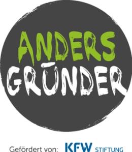 Logo AndersGründer, gefördert von der KFW Stiftung