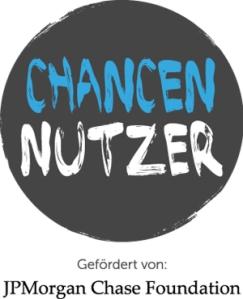 Logo ChancenNutzer, gefördert von JPMorgen Chase Foudation